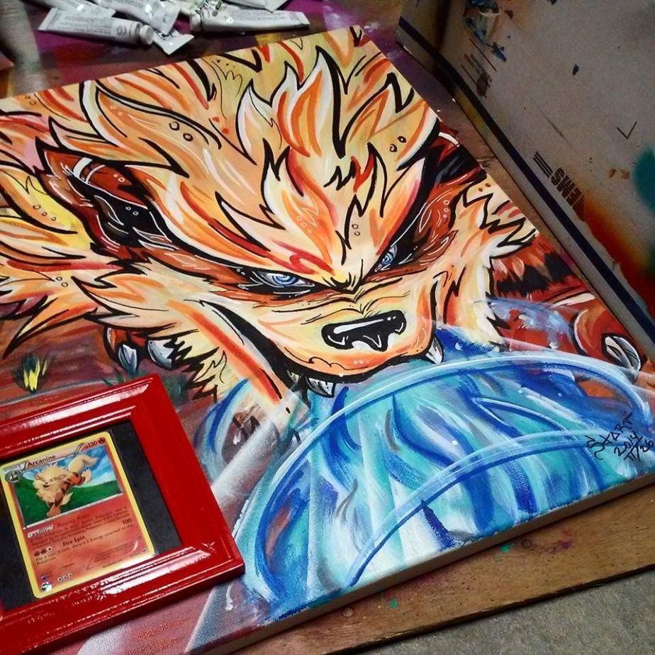 arcanine painting by starv