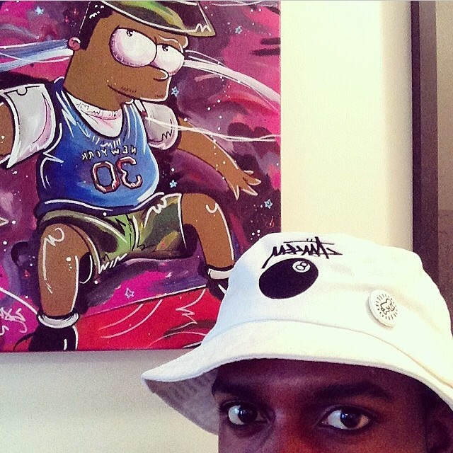 black dave with his black bart piece I Did for him