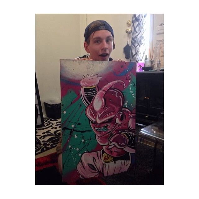 jordan in austrailia with his kid buu piece by me